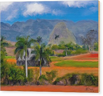 Wood Print featuring the photograph Vinales Valley. Cuba by Juan Carlos Ferro Duque