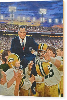 Vince Lombardi Wood Print by Cliff Spohn
