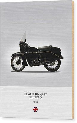 Vincent Black Knight 1955 Wood Print by Mark Rogan