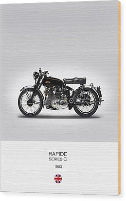 Vincent Rapide 1953 Wood Print by Mark Rogan