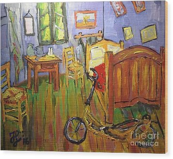 Vincent Van Go's Bedroom Wood Print