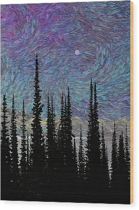 Vincent's Dream Wood Print by Ed Hall