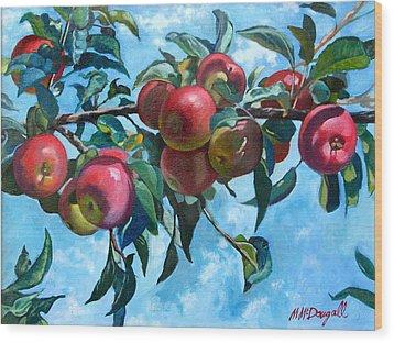 Vine Apples Wood Print