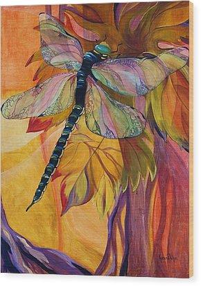 Vineyard Fantasy Wood Print by Karen Dukes