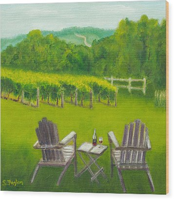 Vineyards Of Sogn Valley Wood Print by Susan Fuglem
