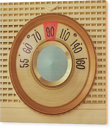 Wood Print featuring the photograph Vintage Am Radio Dial by Jim Hughes