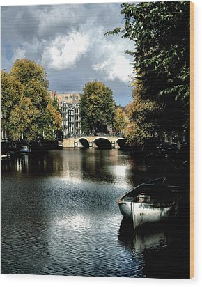 Wood Print featuring the photograph Vintage Amsterdam by Jim Hill
