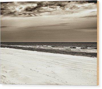 Vintage Beach Haven Wood Print by John Rizzuto
