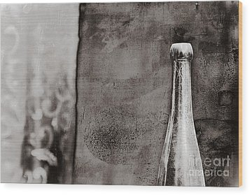 Wood Print featuring the photograph Vintage Beer Bottle by Andrey  Godyaykin