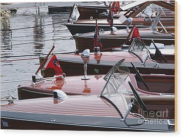 Vintage Boats Wood Print