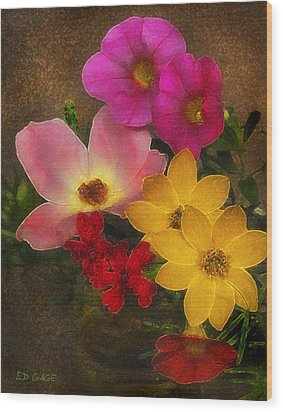 Vintage Bouquet Wood Print by Ed Gage