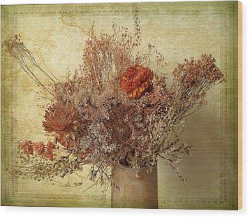 Wood Print featuring the photograph Vintage Bouquet by Jessica Jenney