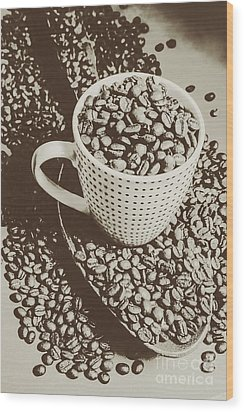 Wood Print featuring the photograph Vintage Coffee Art. Stimulant by Jorgo Photography - Wall Art Gallery