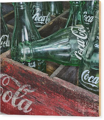 Vintage Coke Square Format Wood Print by Paul Ward