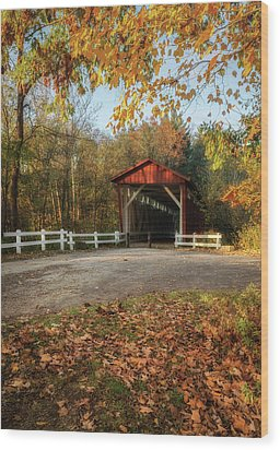 Wood Print featuring the photograph Vintage Covered Bridge by Dale Kincaid