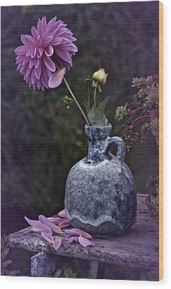 Wood Print featuring the photograph Vintage Dahlia Still Life by Richard Cummings