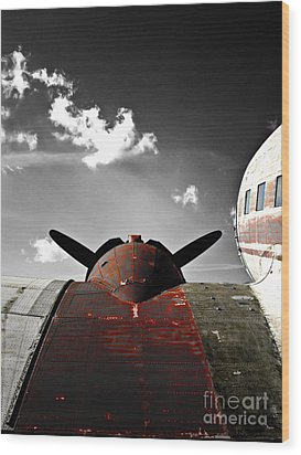 Vintage Dc-3 Aircraft  Wood Print by Steven Digman