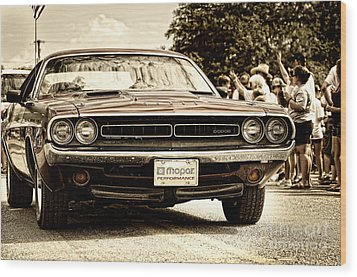 Vintage Dodge Charger Wood Print by Andre Babiak
