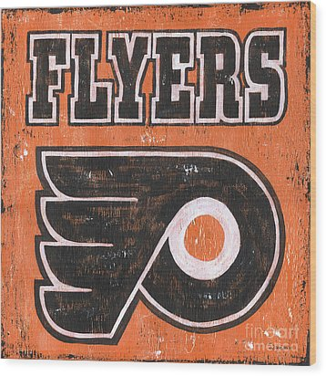 Vintage Flyers Sign Wood Print by Debbie DeWitt