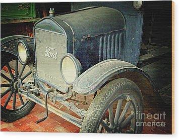 Vintage Ford Wood Print