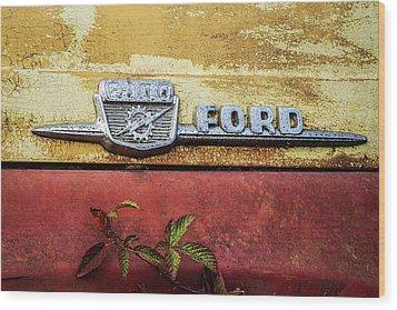 Vintage Ford Logo Wood Print