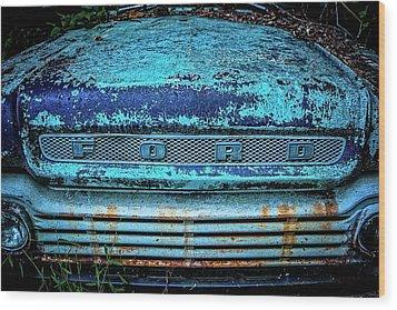 Vintage Ford Pick Up Wood Print