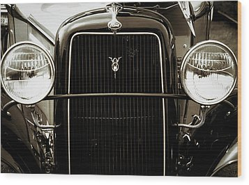 Vintage Ford V8 Wood Print