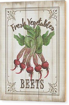 Wood Print featuring the painting Vintage Fresh Vegetables 1 by Debbie DeWitt