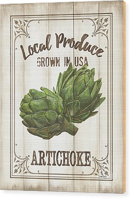 Vintage Fresh Vegetables 2 Wood Print by Debbie DeWitt