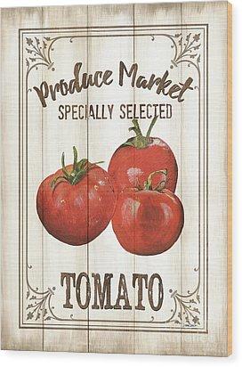 Wood Print featuring the painting Vintage Fresh Vegetables 4 by Debbie DeWitt