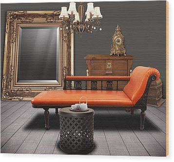 Vintage Furnitures Wood Print by Atiketta Sangasaeng