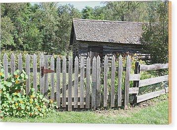 Vintage Garden Gate Wood Print