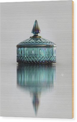 Vintage Glass Candy Jar Wood Print