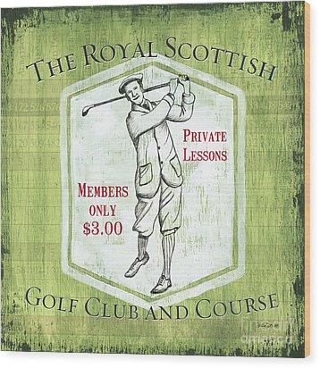Vintage Golf Green 1 Wood Print by Debbie DeWitt