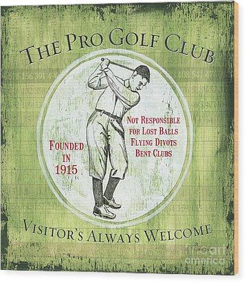 Vintage Golf Green 2 Wood Print by Debbie DeWitt
