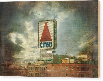 Vintage Kenmore Square Citgo Sign - Boston Red Sox Wood Print by Joann Vitali