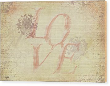 Vintage Love Wood Print by Caitlyn Grasso