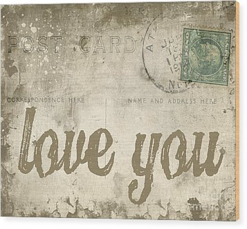 Vintage Love Letters Wood Print