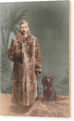Wood Print featuring the photograph Vintage Man And Spaniel Dog by Lyric Lucas