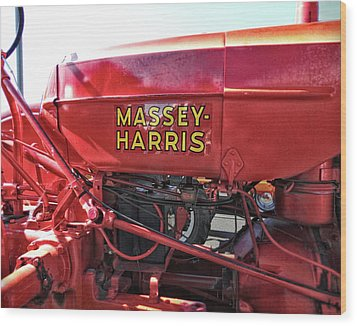 Vintage Massey Harris Tractor Wood Print by Ann Powell