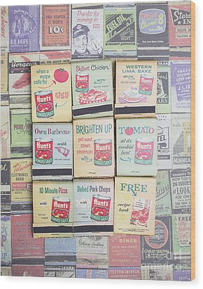Wood Print featuring the photograph Vintage Matchbooks by Edward Fielding