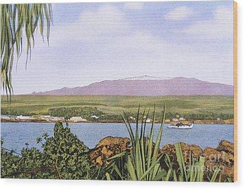 Vintage Mauna Kea Wood Print by Hawaiian Legacy Archive - Printscapes