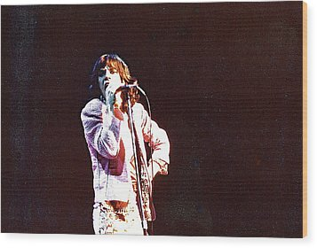 Vintage Mick 1975 Wood Print by Claire McGee