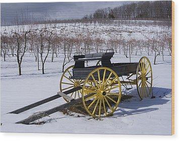 Vintage Milk Wagon Circ 1920s Wood Print
