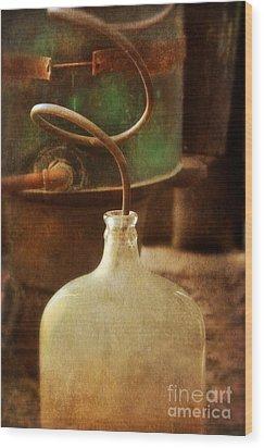 Vintage Moonshine Still Wood Print by Jill Battaglia