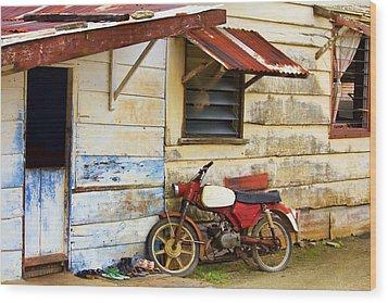 Vintage Motorbike Wood Print