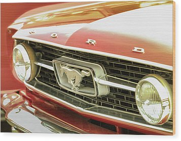 Wood Print featuring the photograph Vintage Mustang by Caitlyn Grasso
