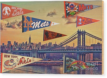 Vintage New York Mets Wood Print