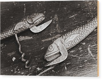 Wood Print featuring the photograph Vintage Openers  by Andrey  Godyaykin