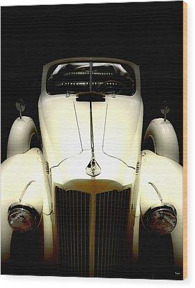 Vintage Packard Convertible  Wood Print by Steven Digman